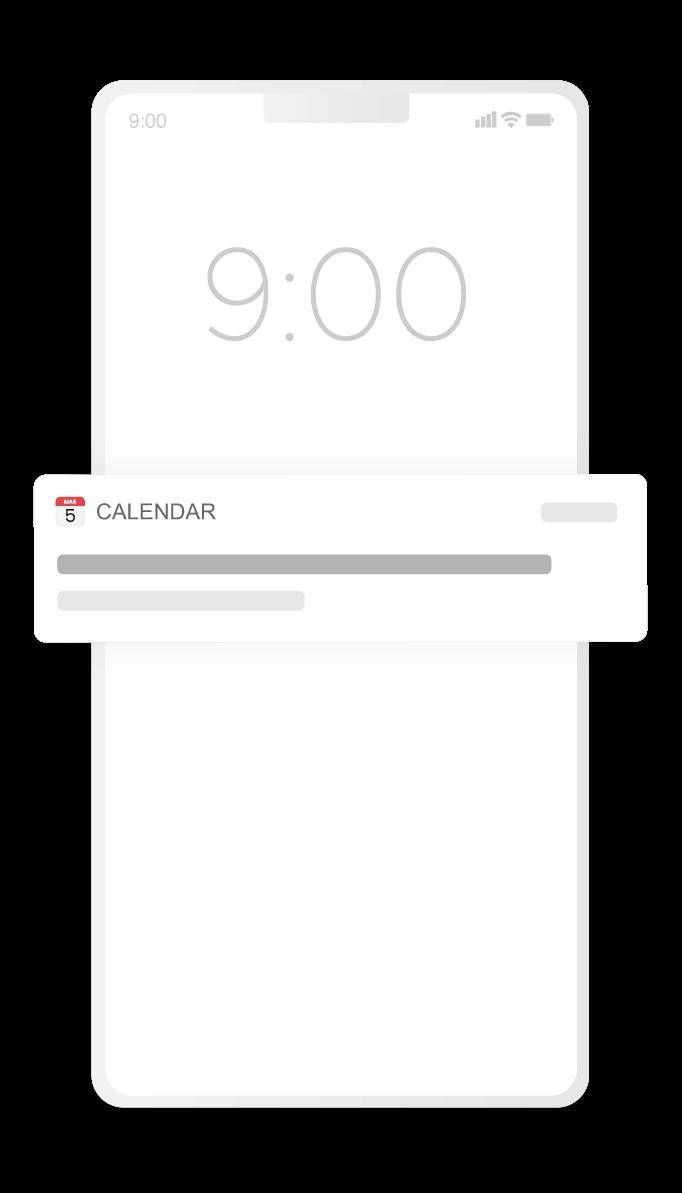 How calendar ads work - event notification