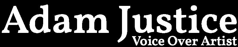 adam justice voice over logo