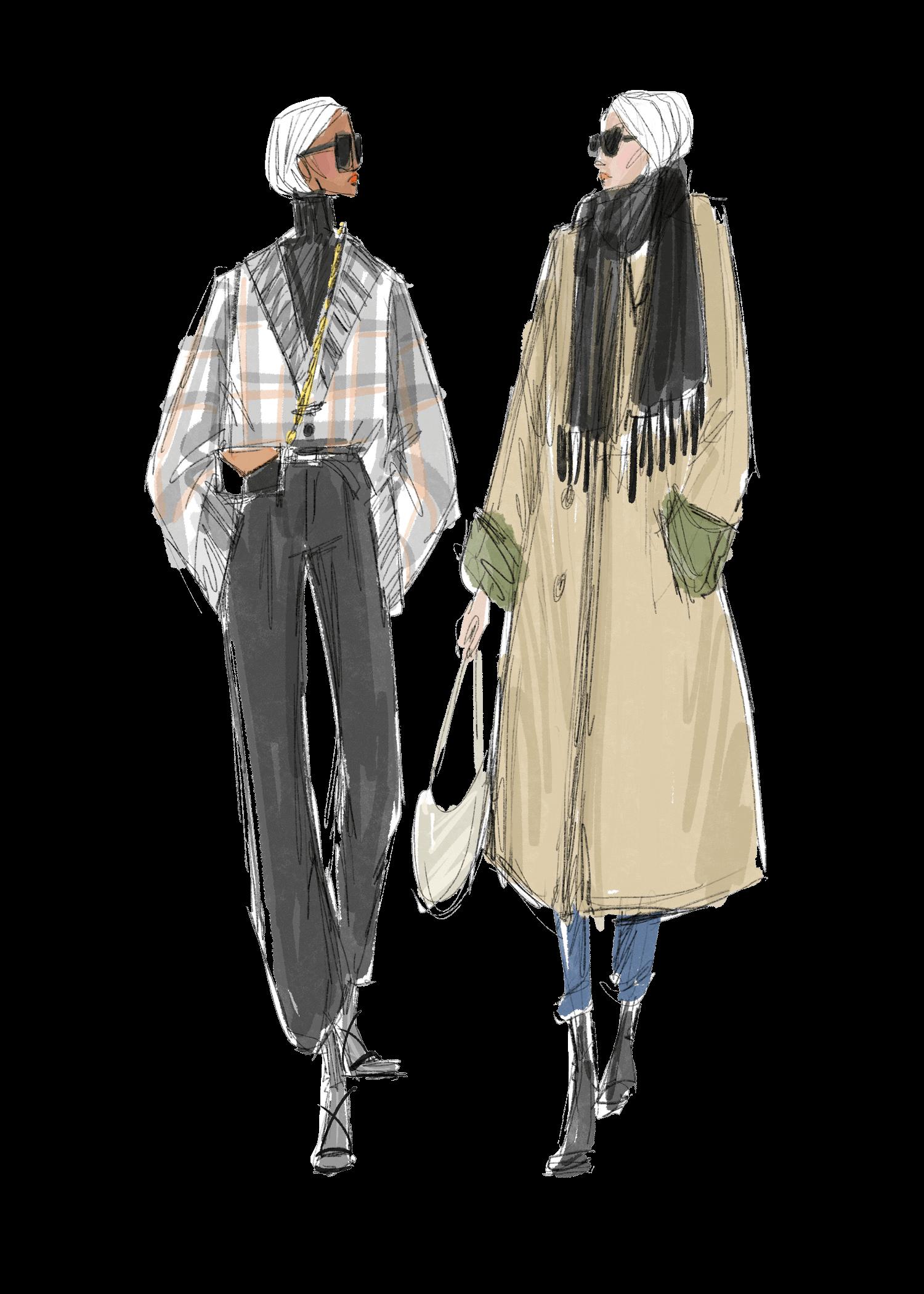 Gold Coast Fashion show illustration