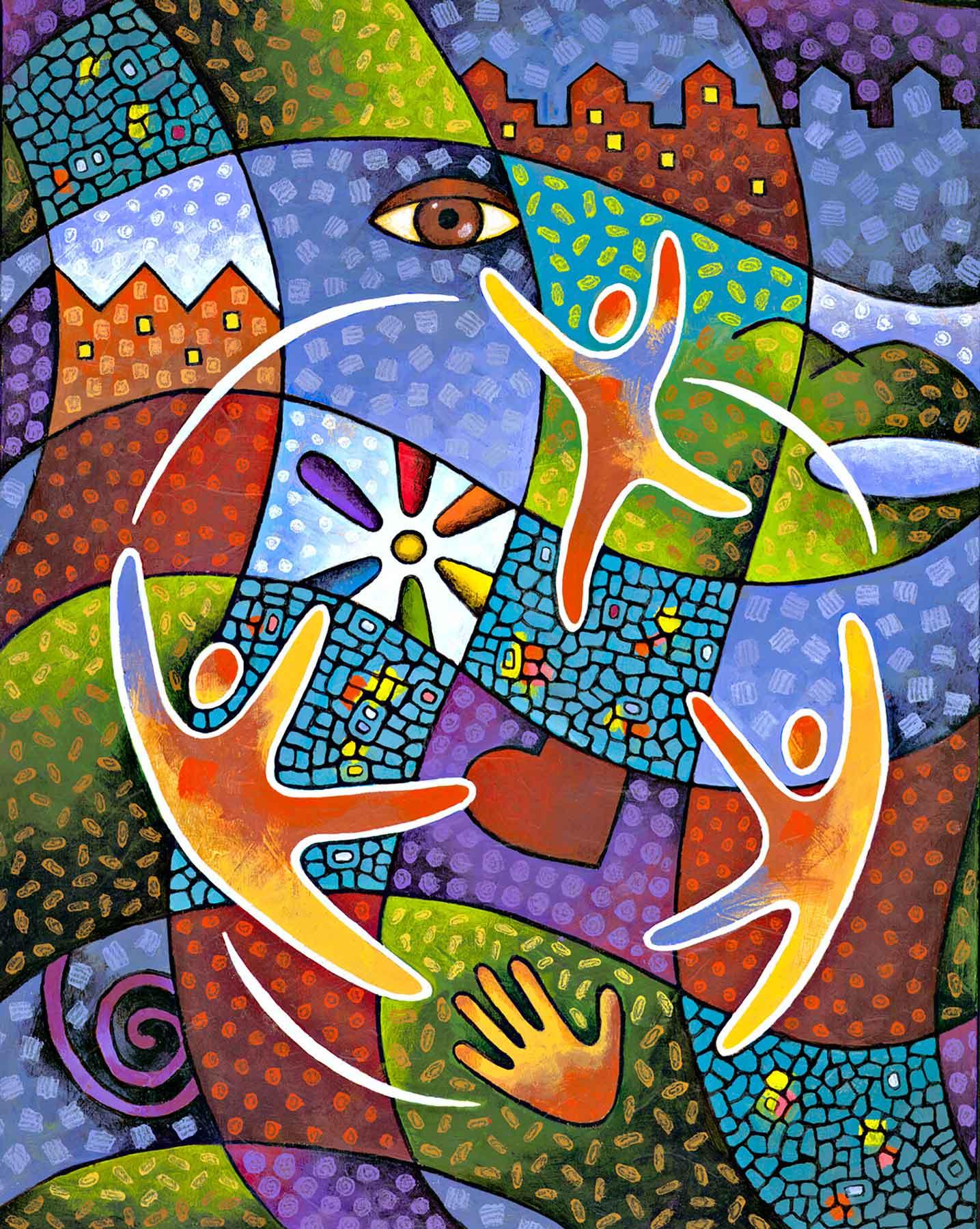 Jim Dryden / Rainbow Quilt / Rainbow Families of Minnesota