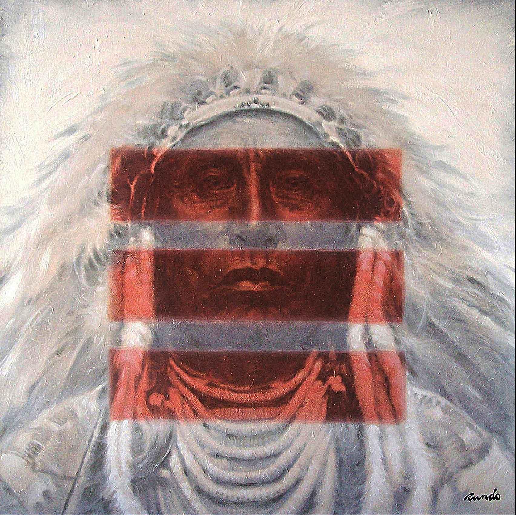 Ron Rundo / Chief Medicine Crow / Oil on Canvas