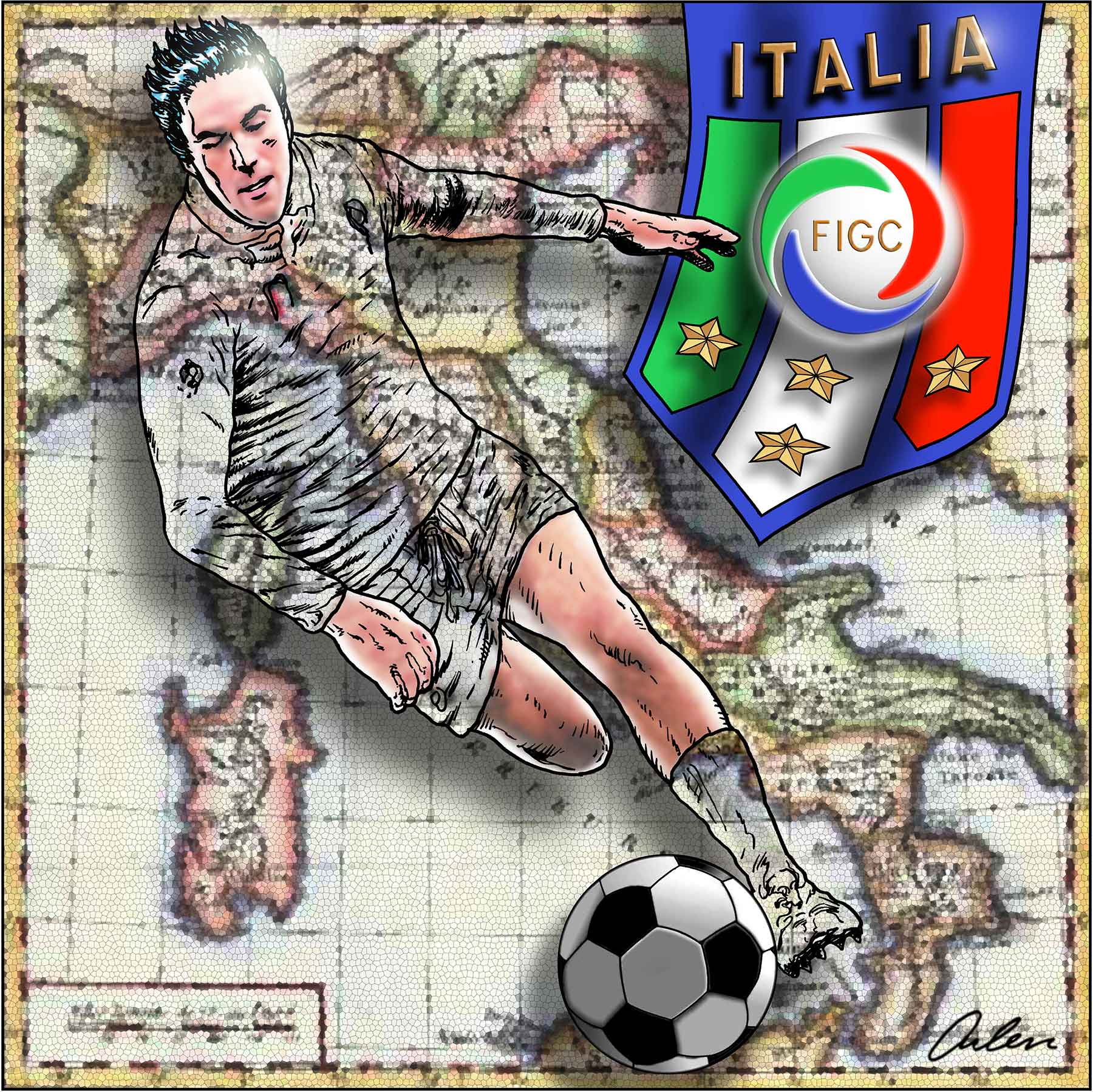 Arlen Schumer / Italian Soccer Poster Competition