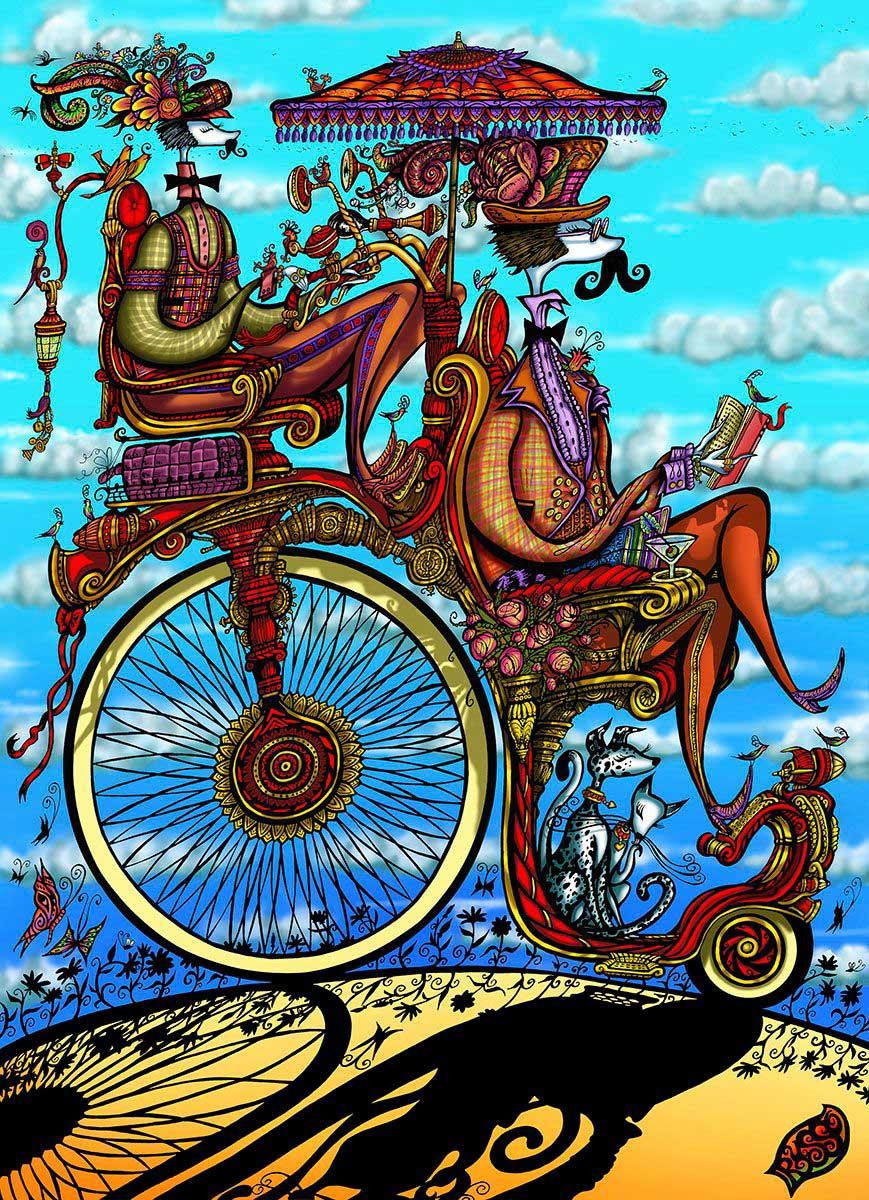 David Russo / Man on Large-Wheel Bike
