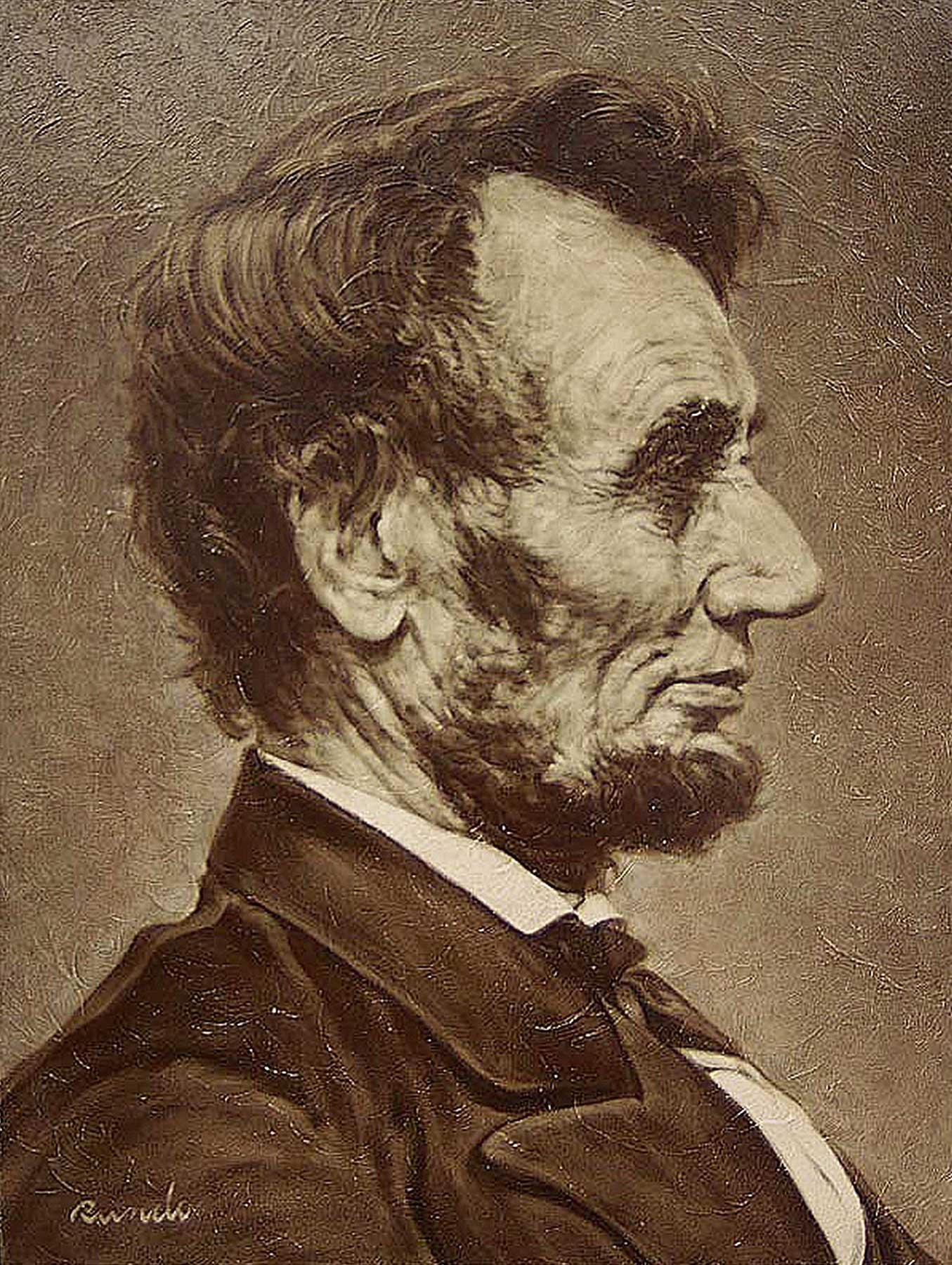 Ron Rundo / Lincoln / Oil on Canvas