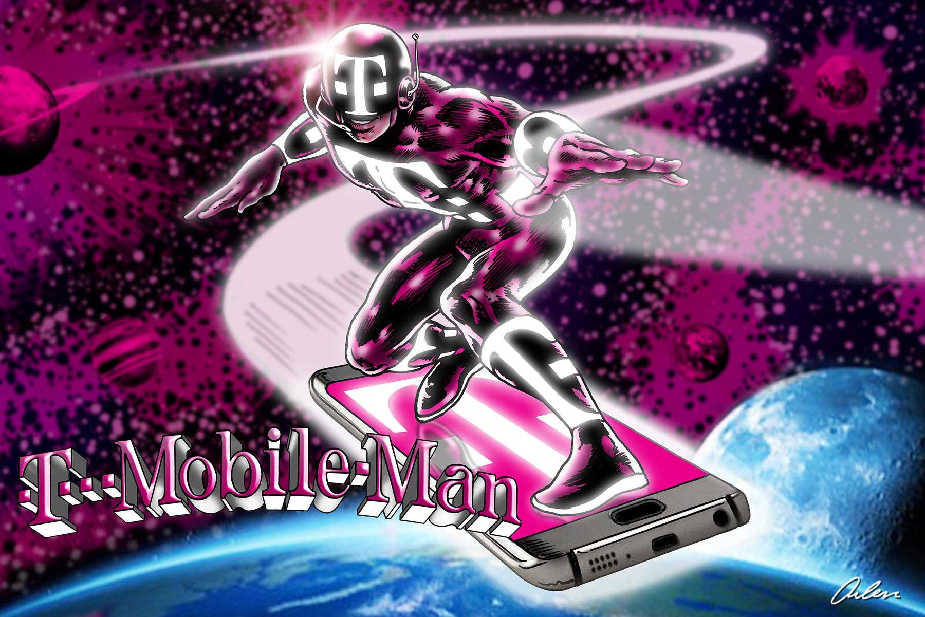 Arlen Schumer / T-Mobile Man Poster