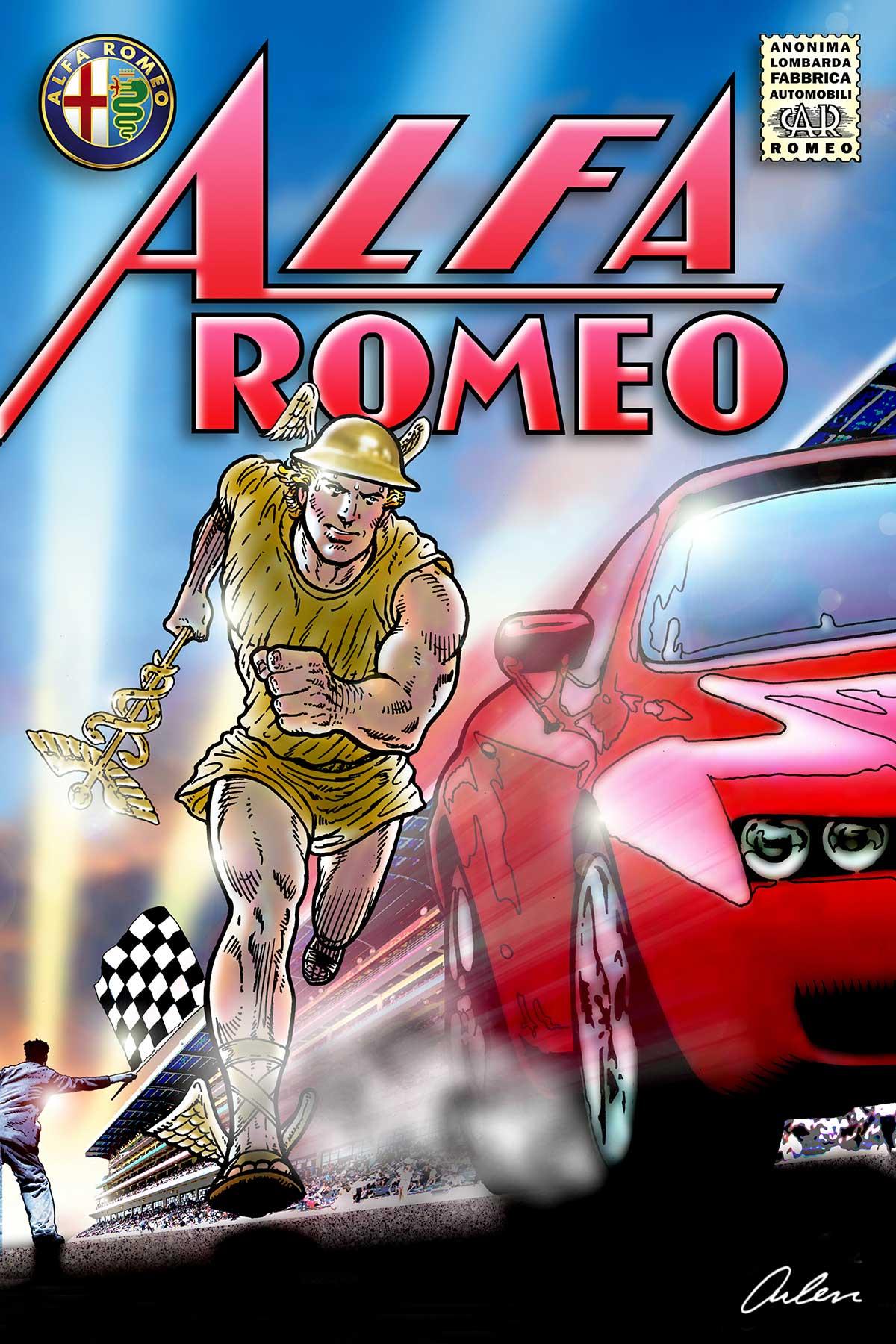 Arlen Schumer / Alfa Romeo Poster / Competition