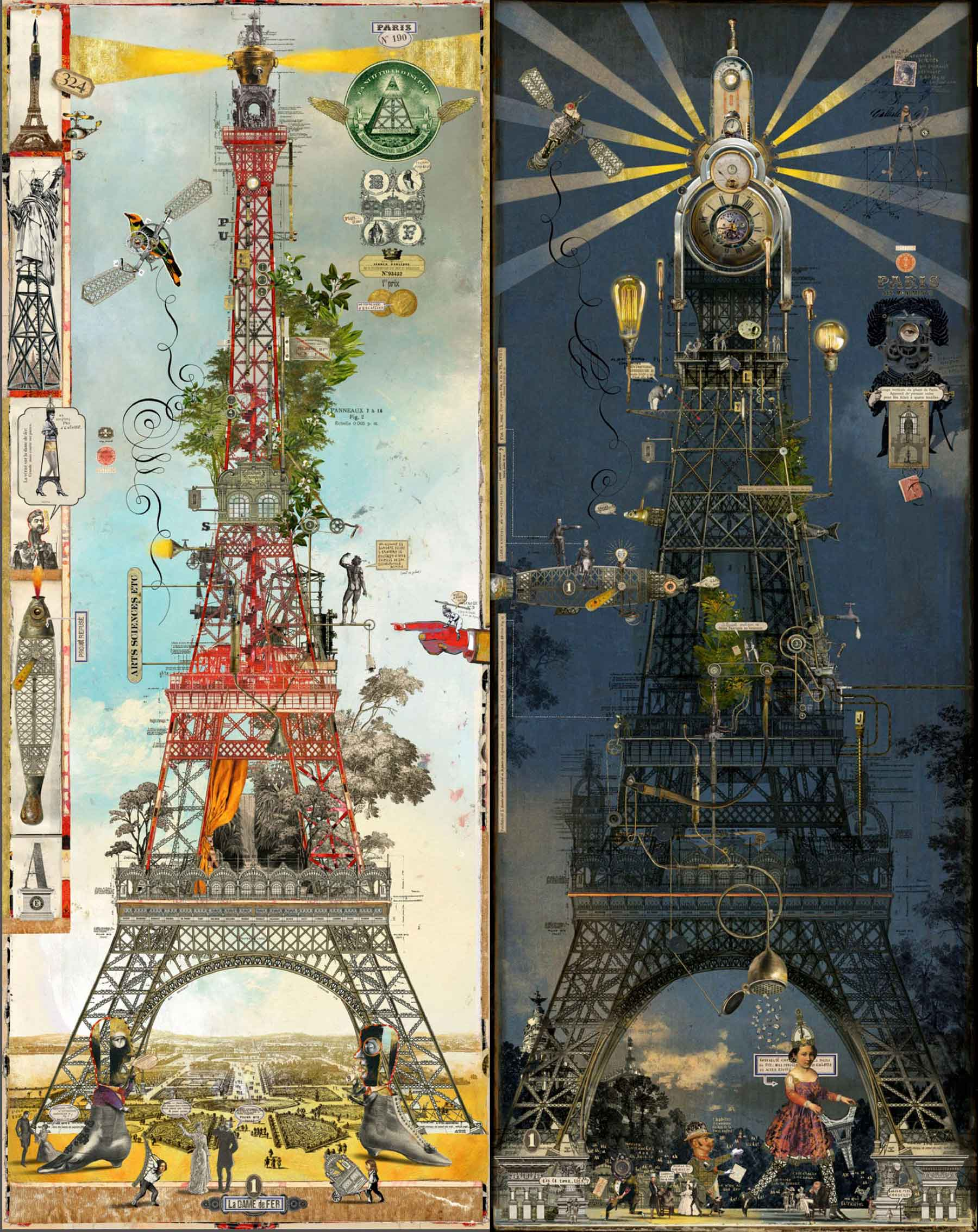 Bruno Mallart / Eiffel Tower / Night & Day