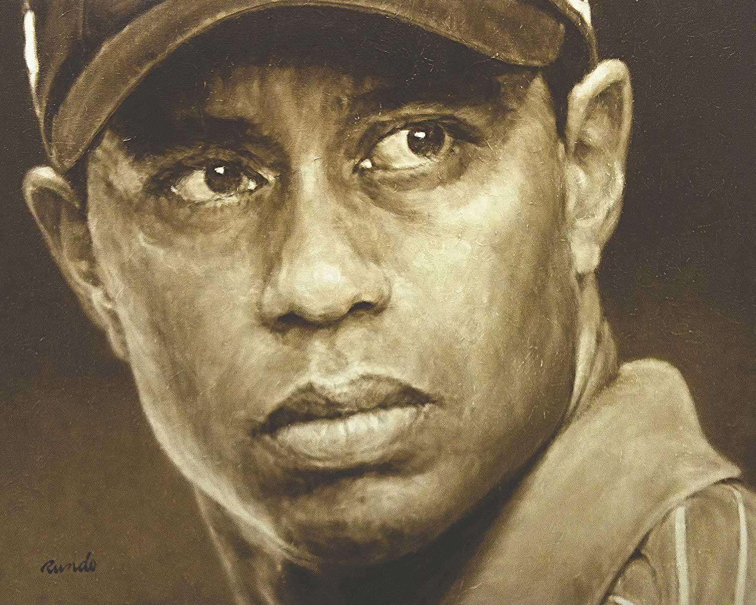 Ron Rundo / Tiger Woods / Oil on Canvas