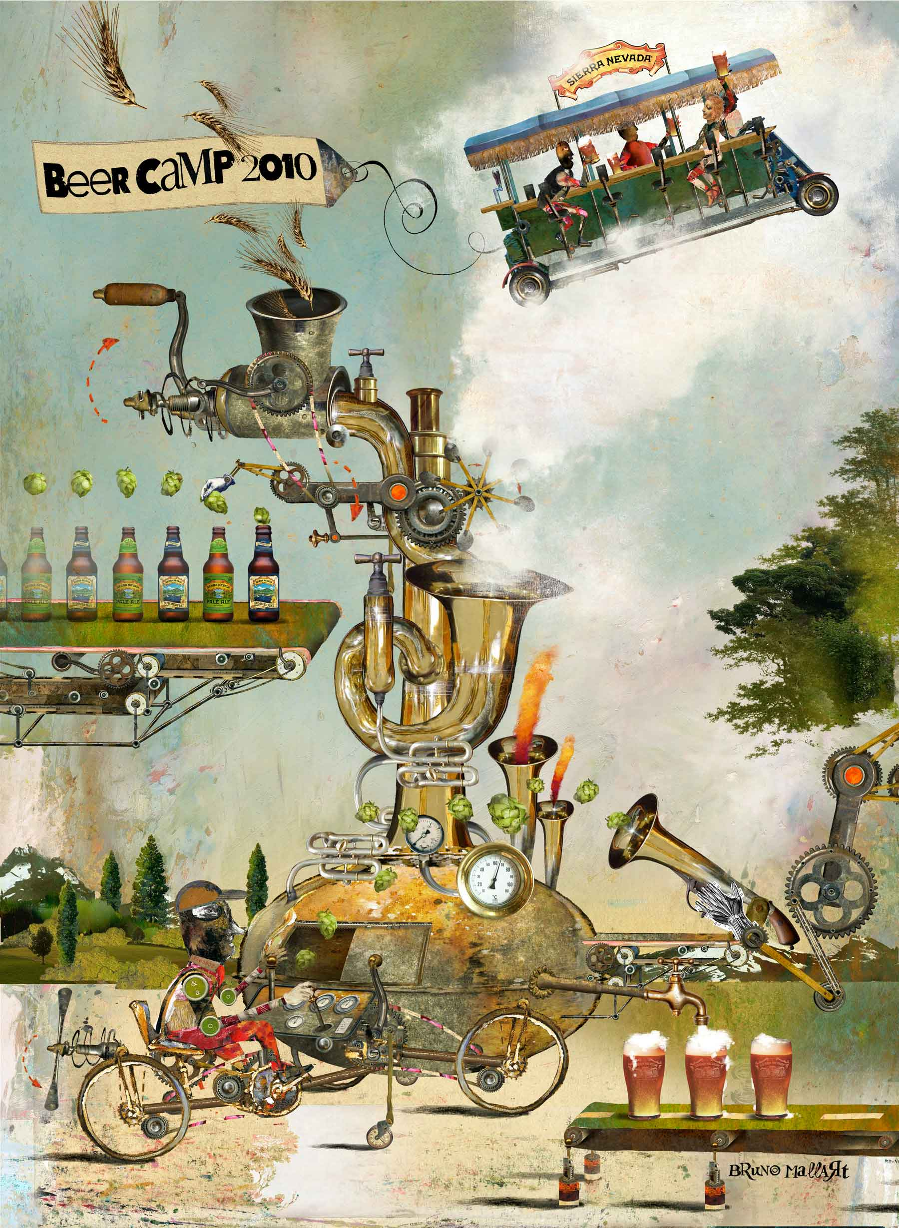 Bruno Mallart / Beer Camp Poster / Sierra Nevada Brewery