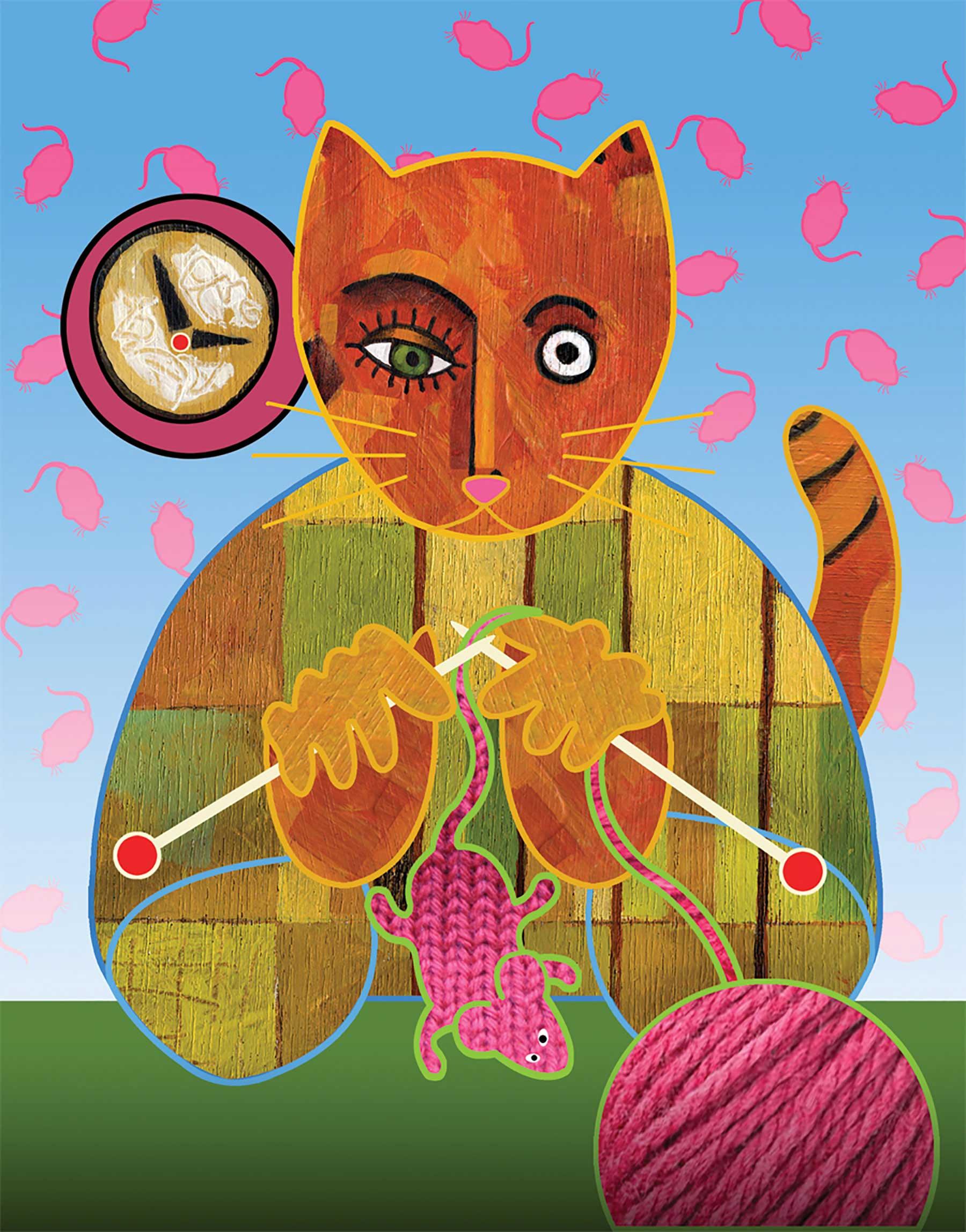 Jim Dryden / Knitting Kitty