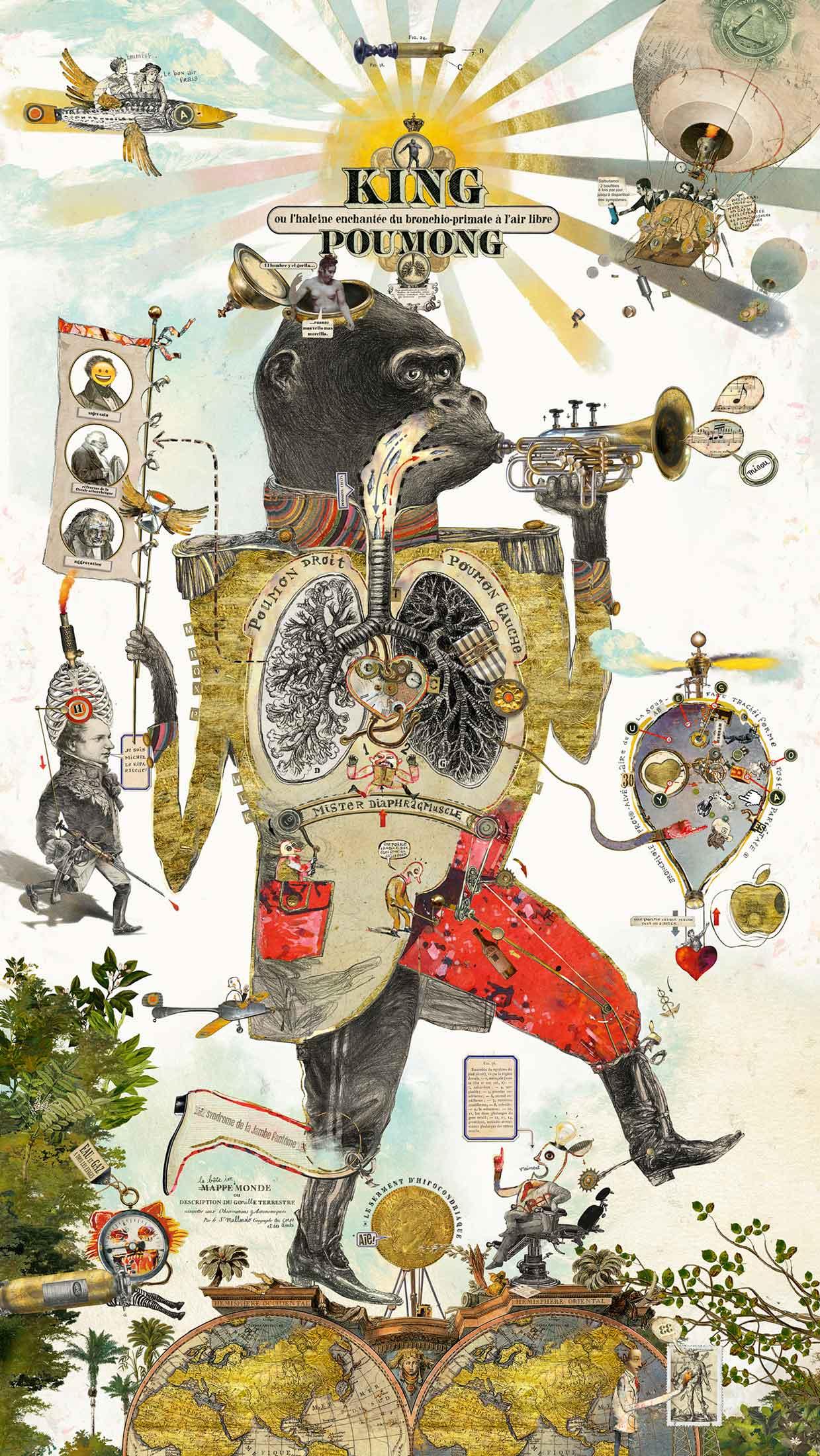 Bruno Mallart / King Pulmong Poster / Refabert Pneumology