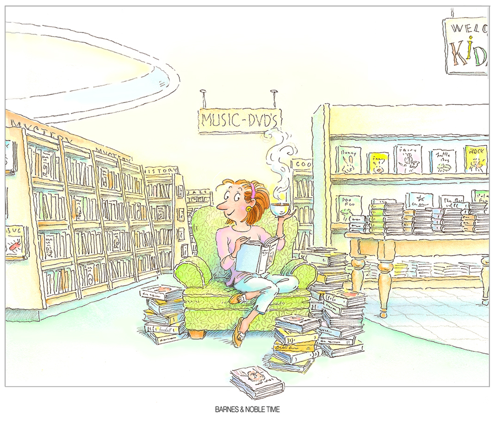Norm Bendell / Barnes & Noble Time / Bookstore Promo