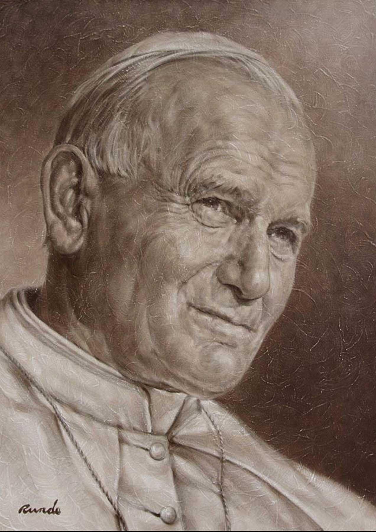 Ron Rundo / Pope John Paul / Oil on Canvas