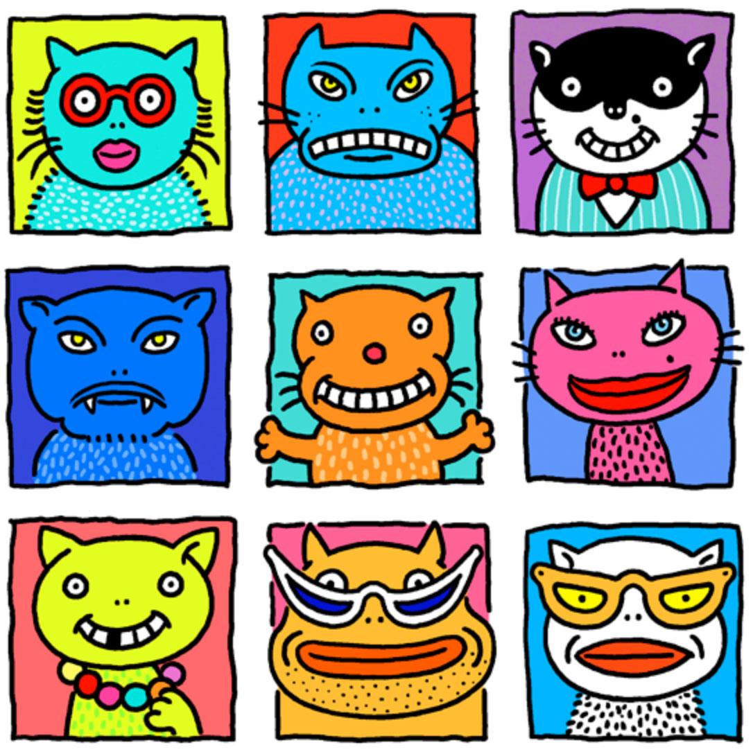 Linda Davick / Nine Cats