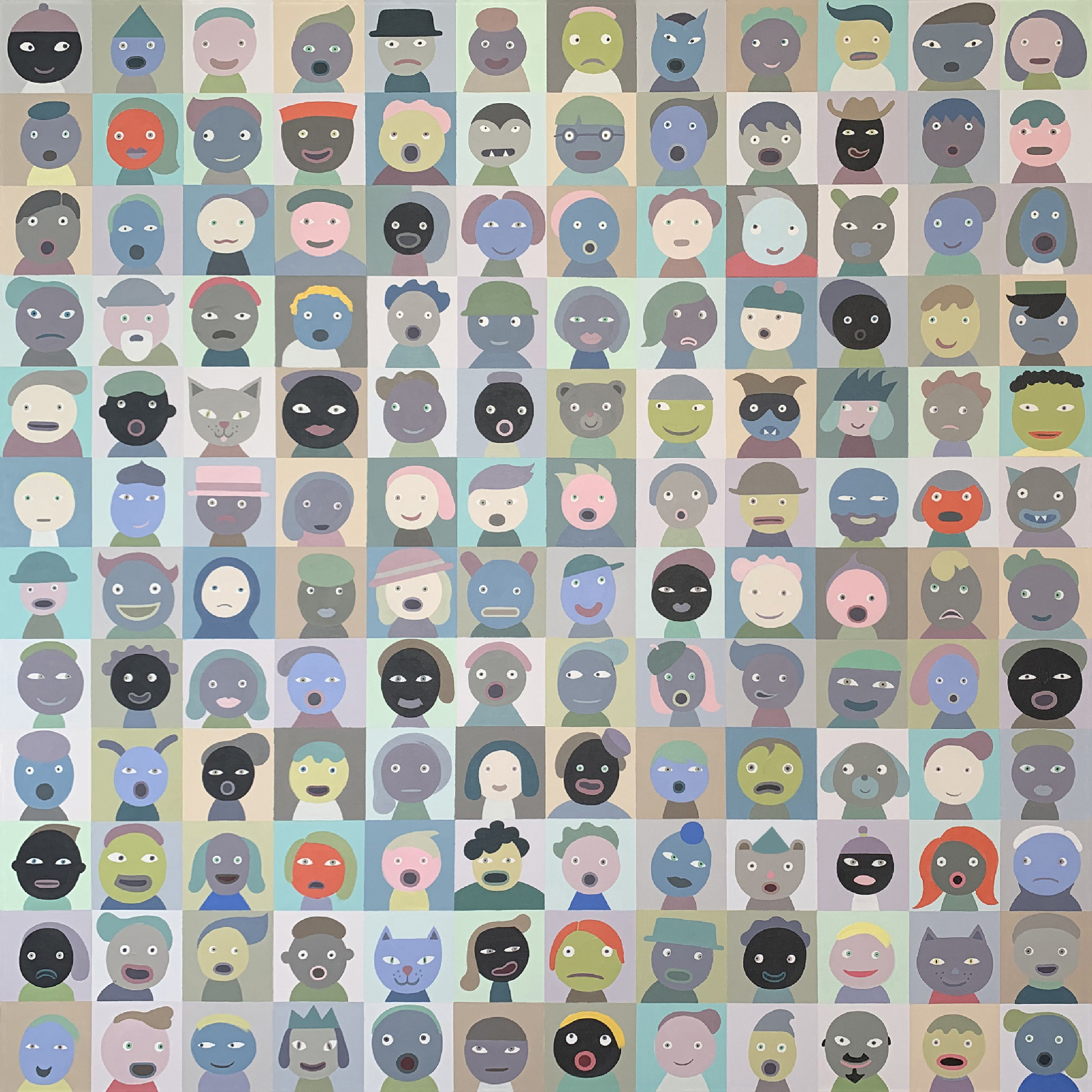 "Linda Davick / Zoom Meeting / Painting, 48x48"""
