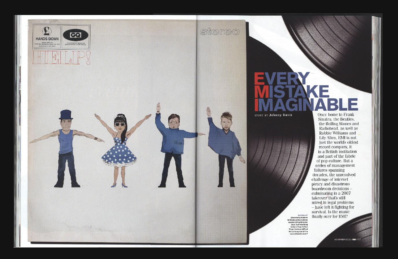 Phil Disley / EMI Help! / GQ Magazine