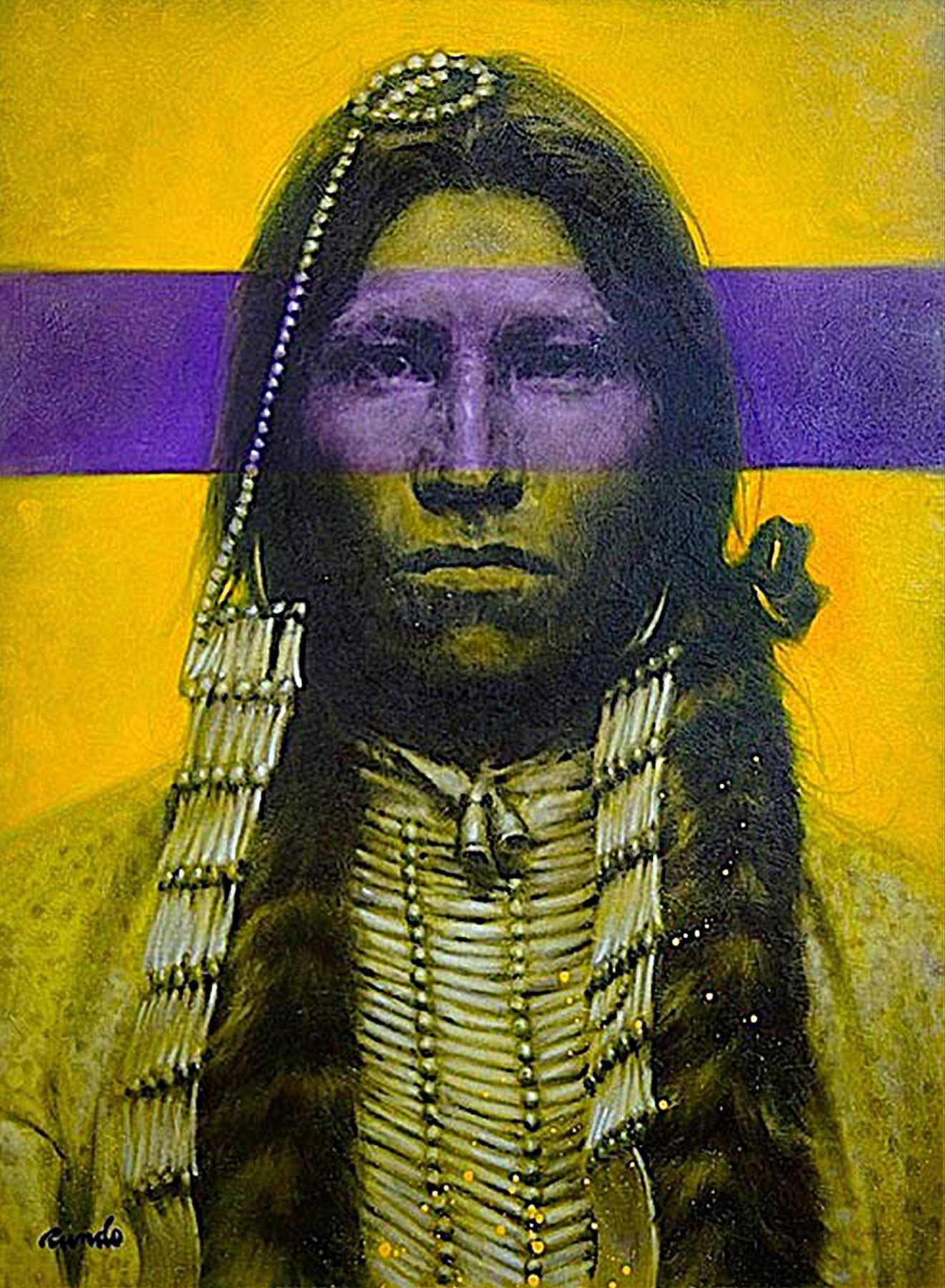 Ron Rundo / Native American / Oil on Canvas