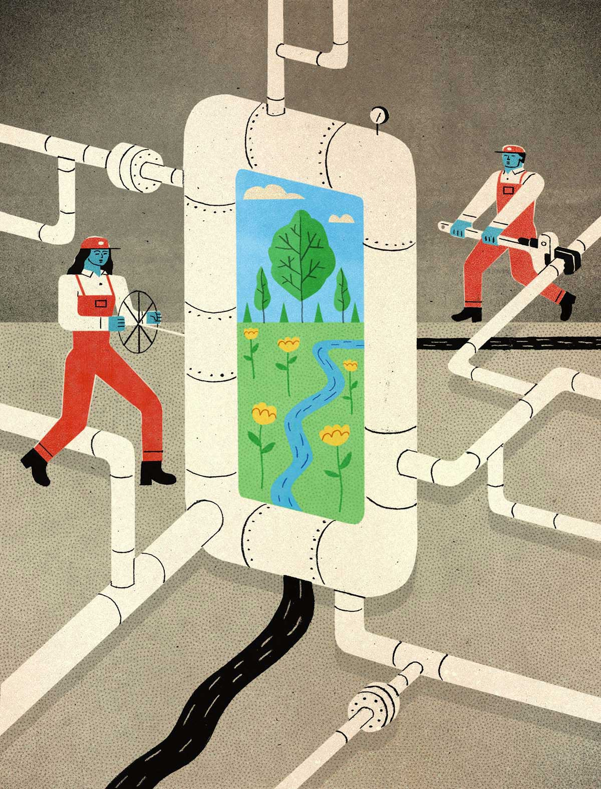 David Plunkert / Natural Gas / Low Carbon Future? / Scientific American