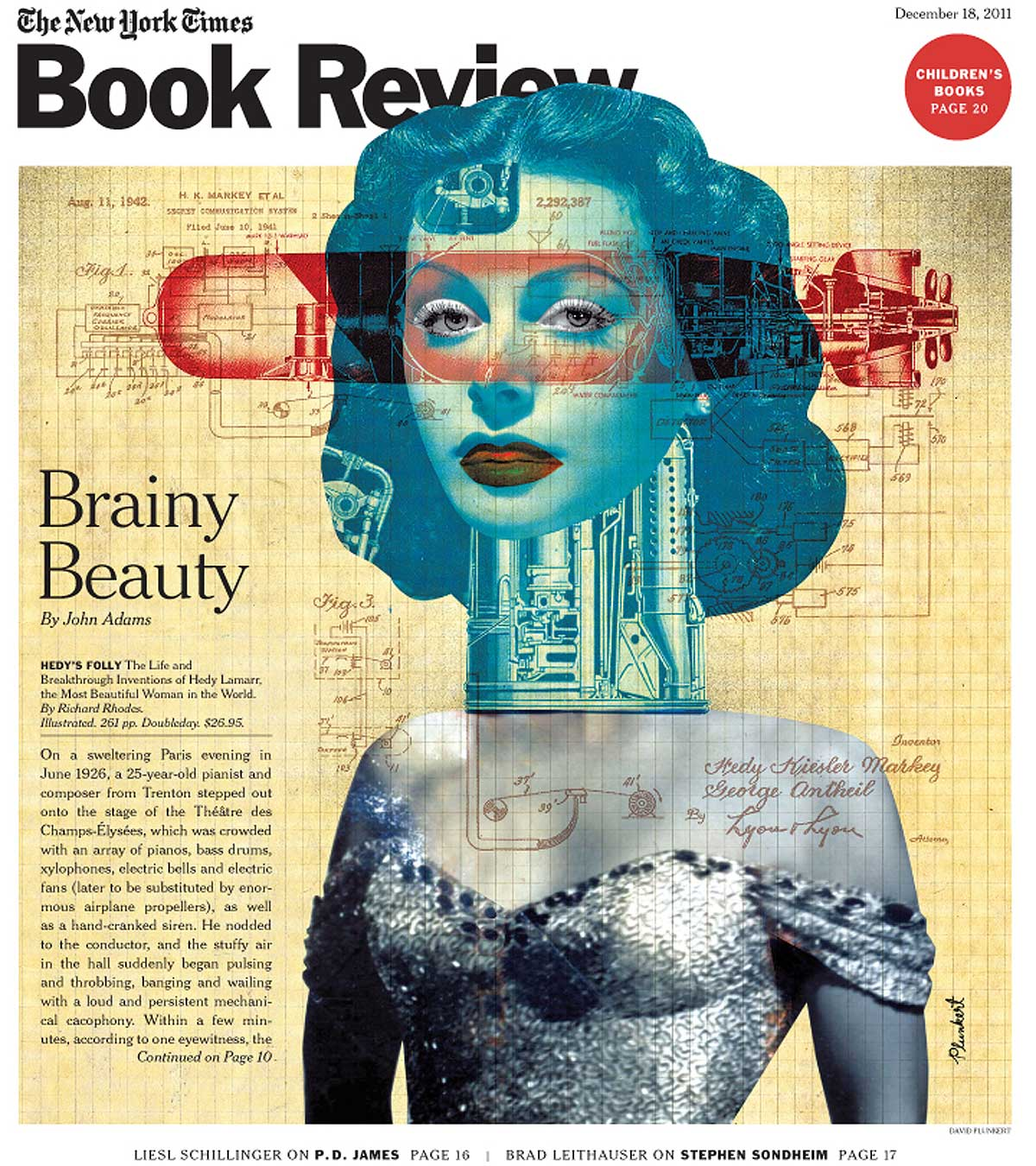 David Plunkert / Brainy Beauty / New York Times Book Review