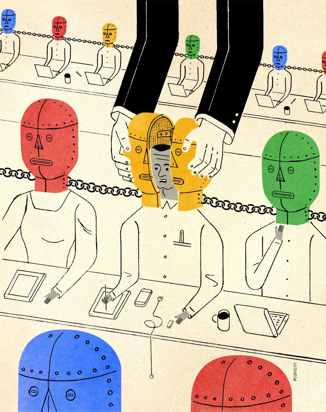 David Plunkert / Is Uber Stealing Google's IP? / The New Yorker