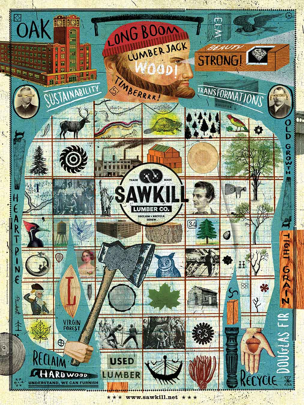 David Plunkert / Lumberjack / Sawkill Lumber Company