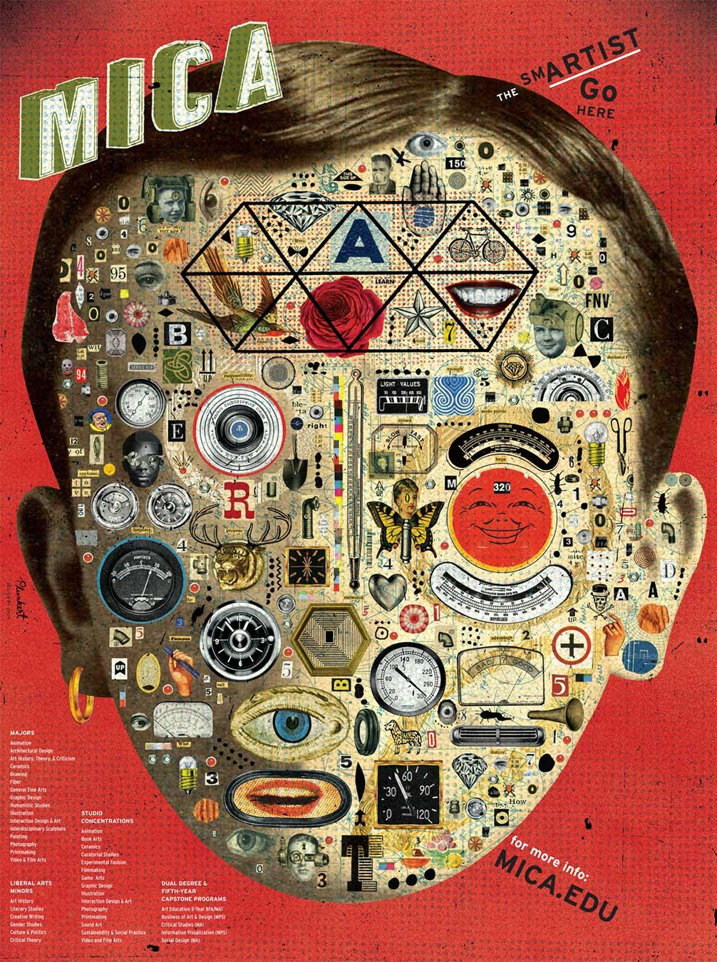 David Plunkert / The Smartest Go Here! / MICA