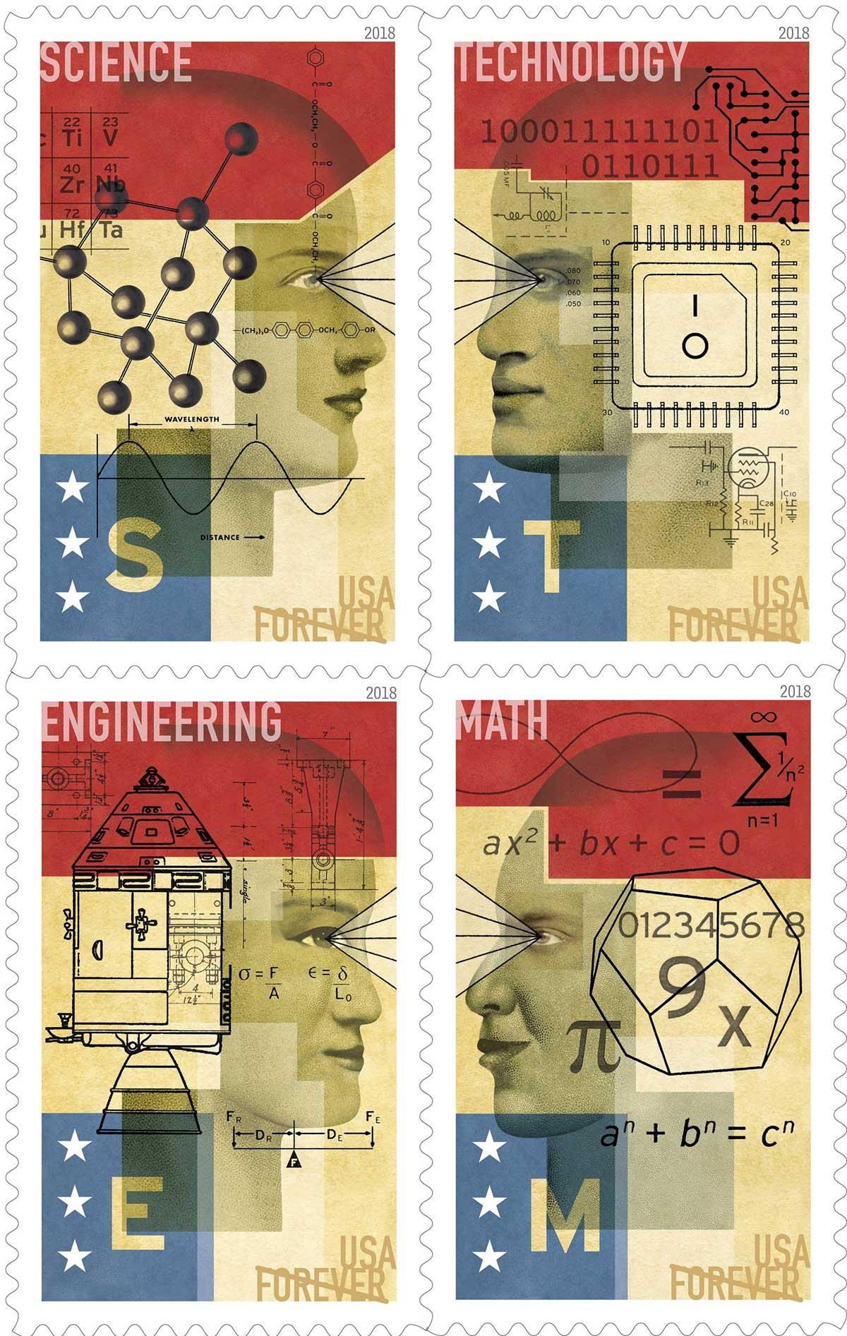 David Plunkert / STEM Stamps / United State Postal Service