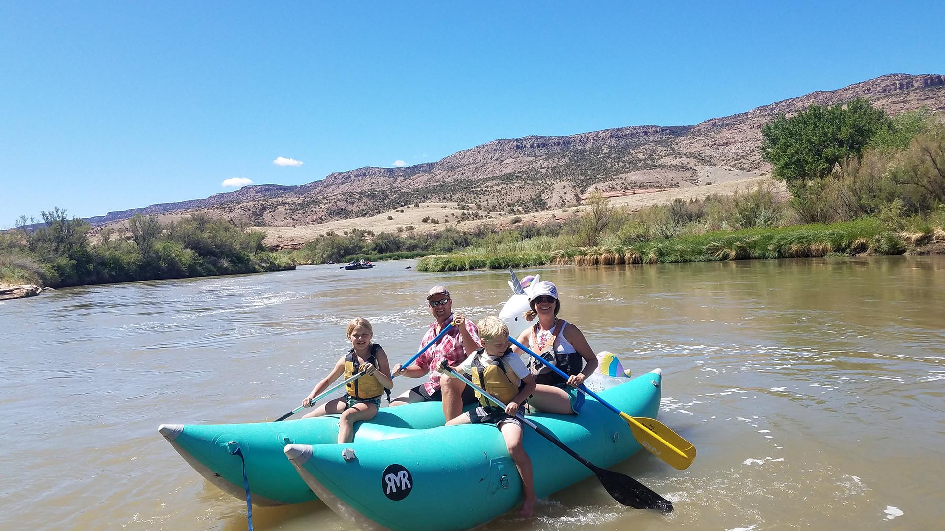 Rafting on the Little Yampa Canyon
