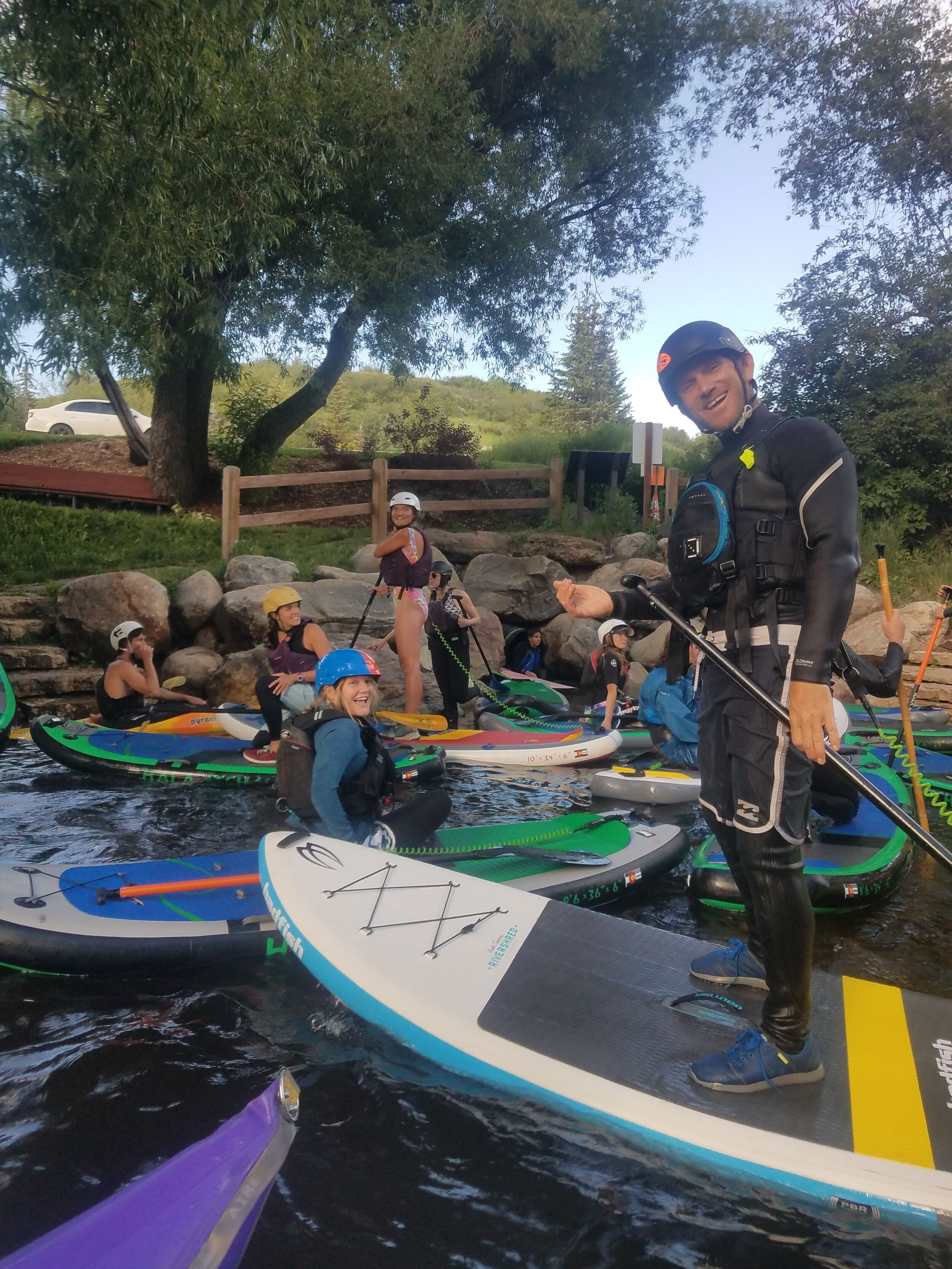 Paddleboarding on the Yampa River
