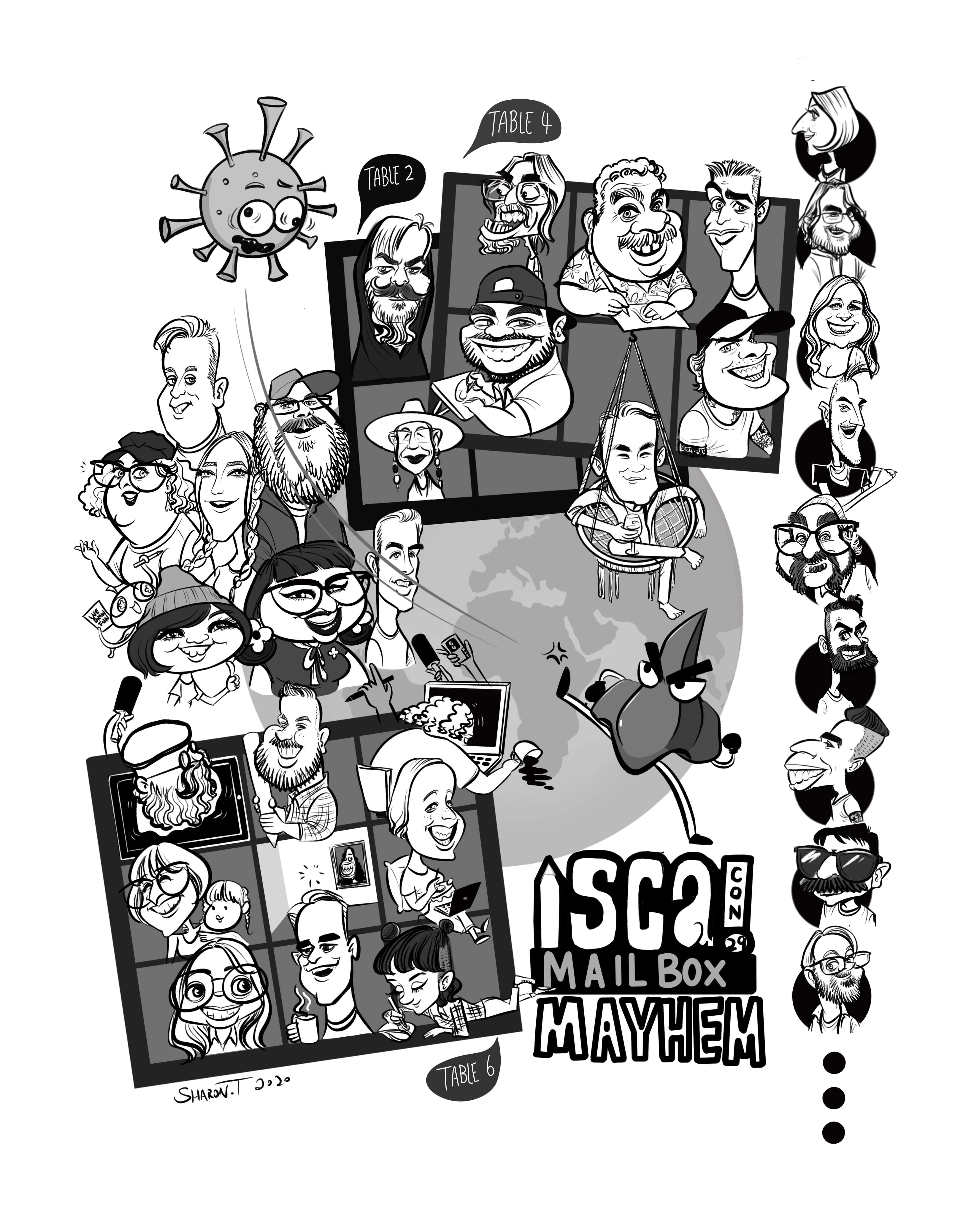 ISCA 2020 sketch by Sharon Tang