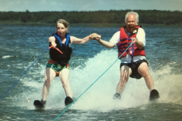 Your hosts, Gary and Sandra, waterskiing well past their 29th birthday. These two know how to have fun!