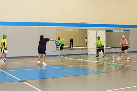 Pickleball courts at local recreation center.