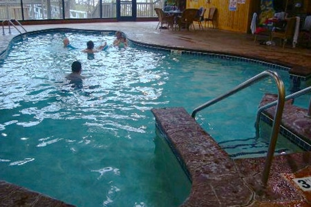 Swimming pool available at a nearby hotel.