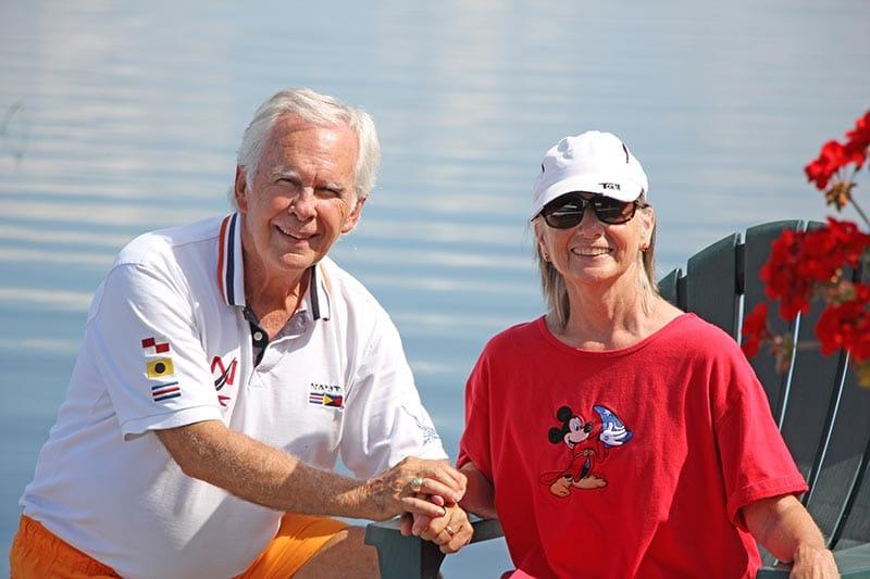 Your hosts at Leech Lake Resort B&B, Gary and Sandra Davis.