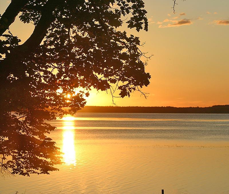 Beautiful sunrise over Leech Lake