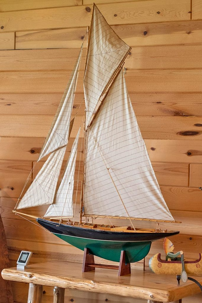 Classic sailboat model in the Bay View Suite