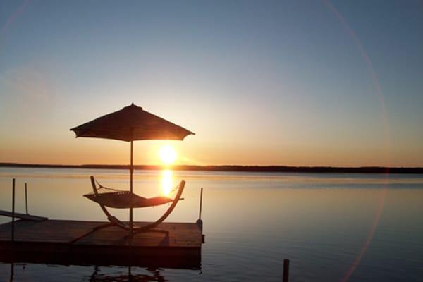 Island hammock at sunrise