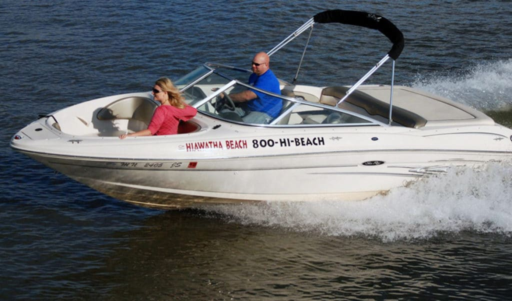 Speed boat on the lake