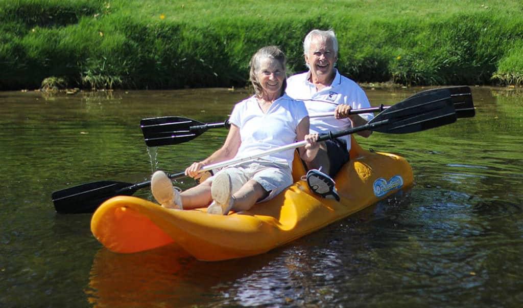 Gary and Sandra enjoying the tandem kayak