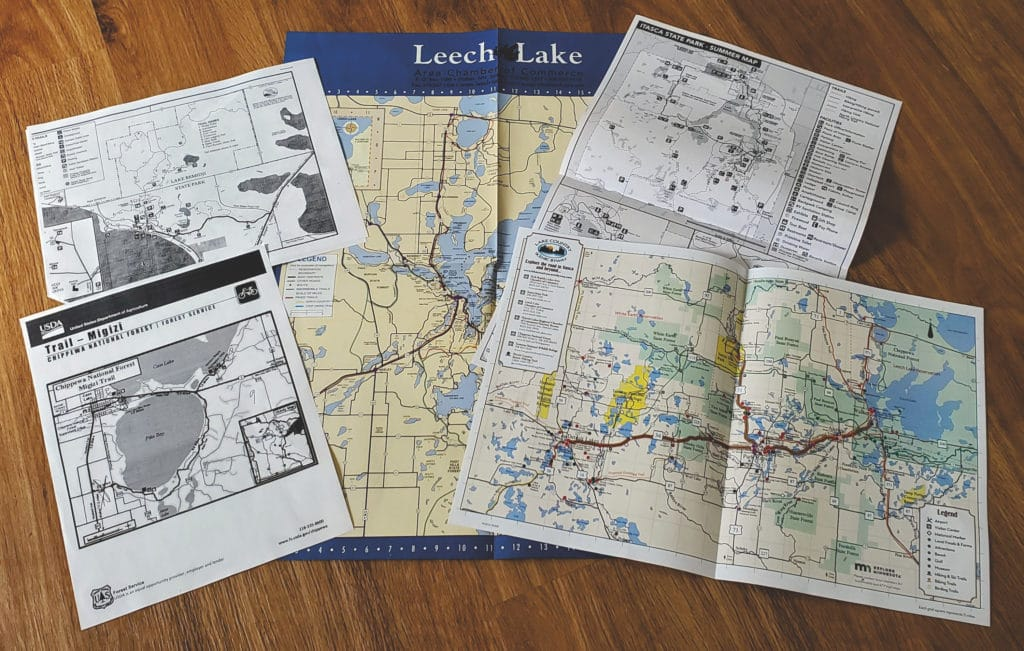 Several trail maps available from Gary at Leech Lake Resort Bed & Breakfast