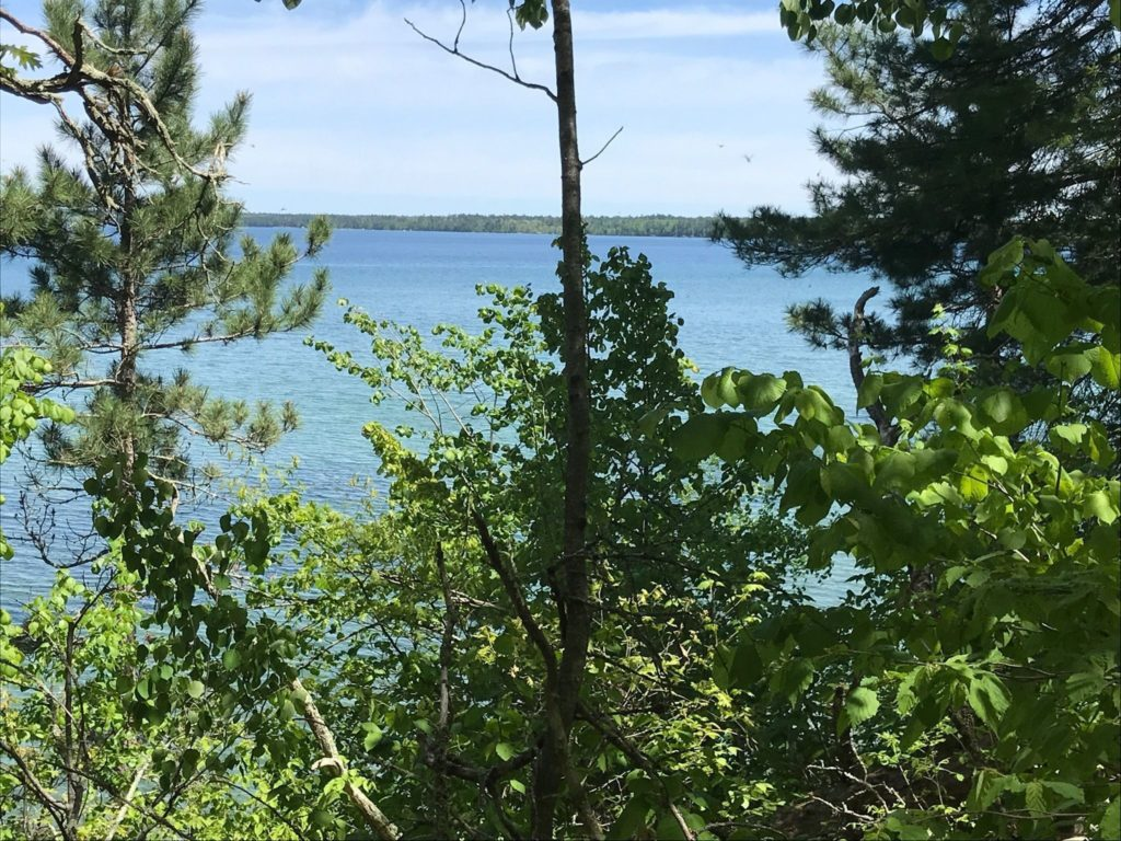 View of the lake from the Migizi Trail in northern Minnesota
