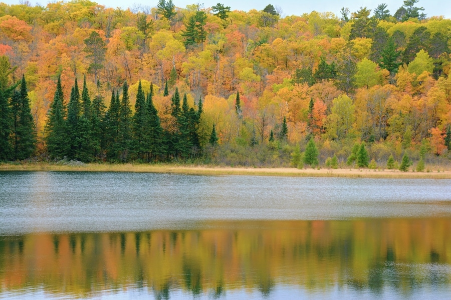 Lake Itasca in Minnesota in the fall.