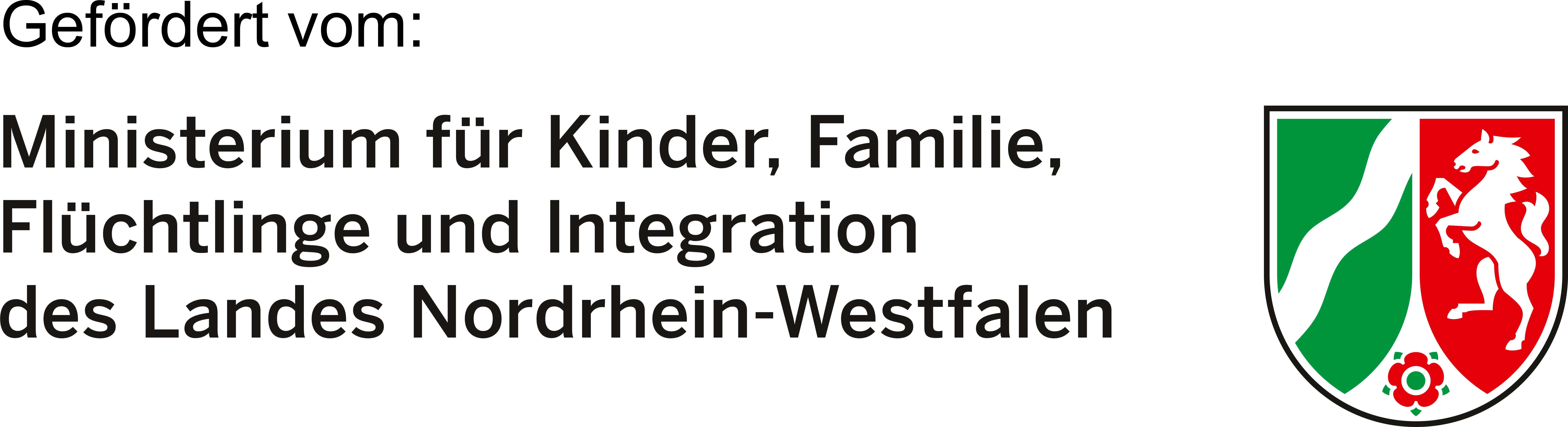 Logo vom Ministerium für Kinder, Familie, Flüchtlinge und Integration des Landes Nordrhein-Westfalen