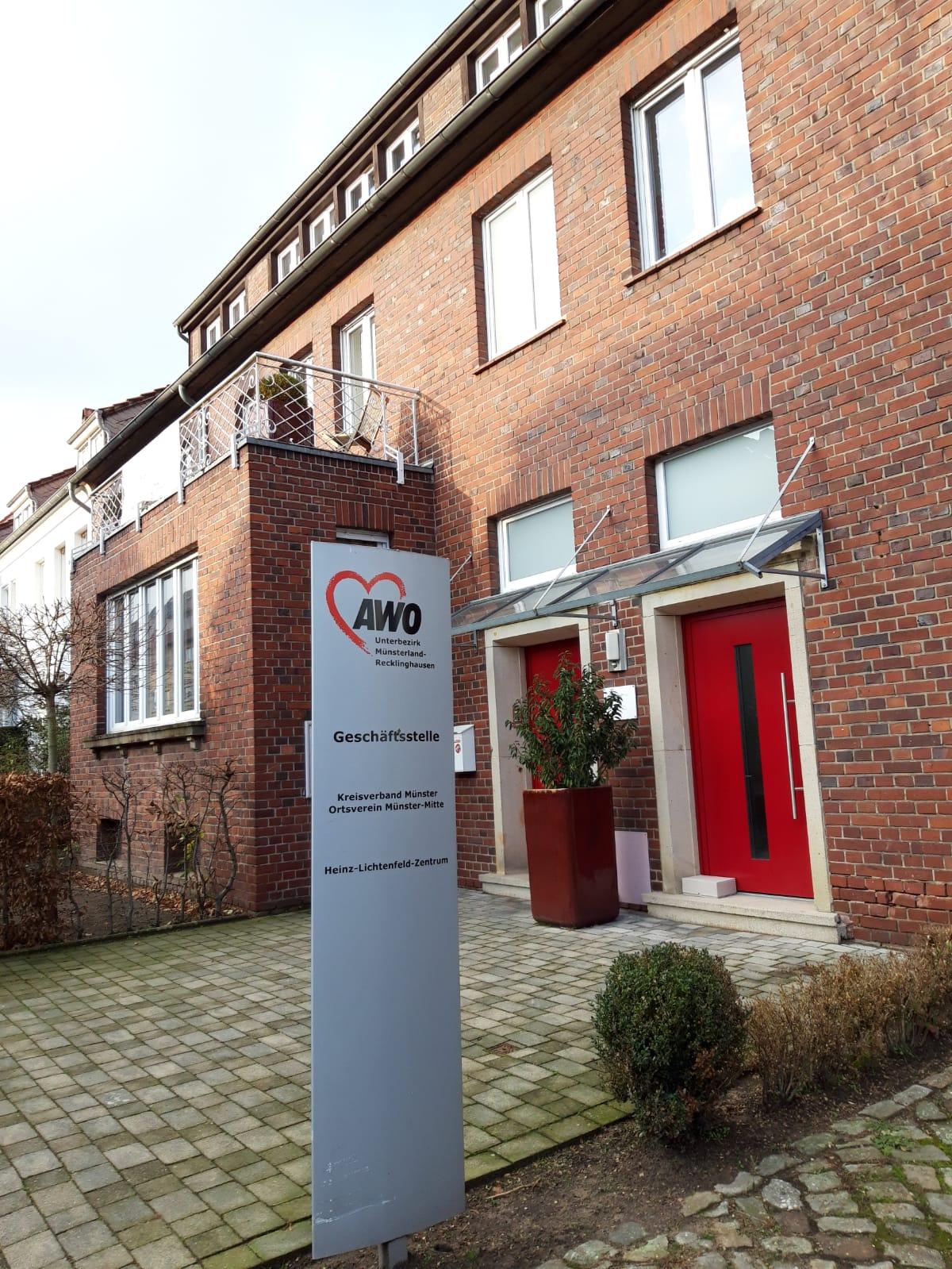 Das Bild zeigt den Eingang der AWO Geschäftsstelle