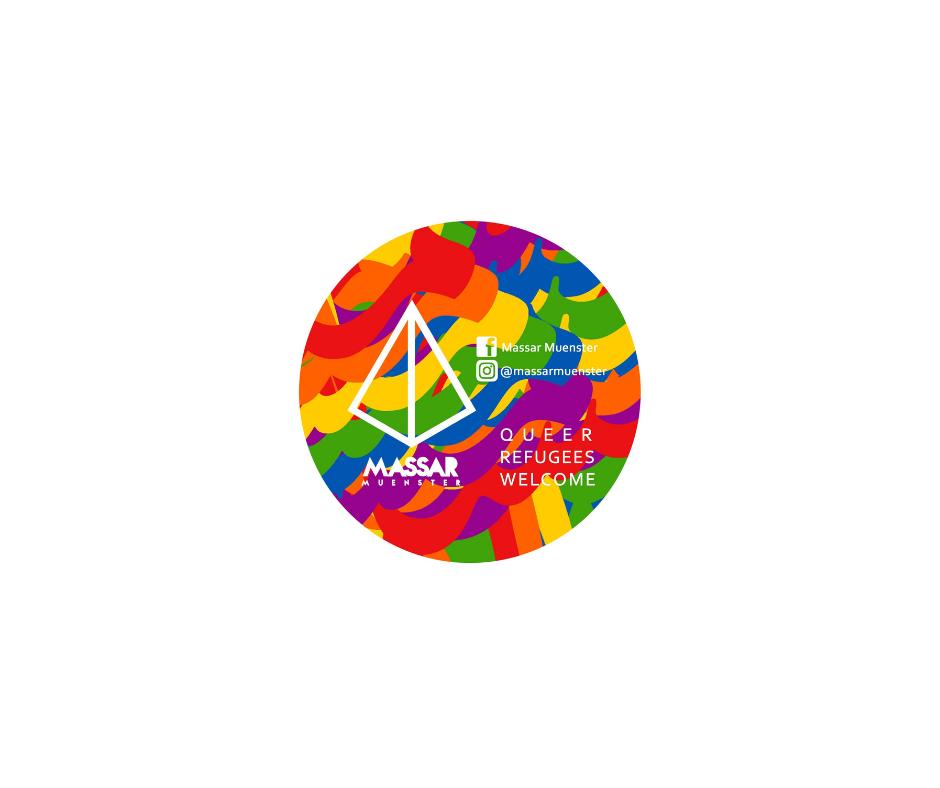Das Bild zeigt das sehr bunte Logo von Massar.