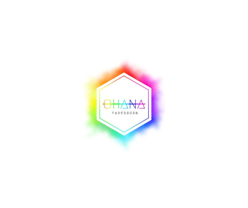 Das Bild zeigt das Ohana Logo dieses besteht aus einem bunten Sechs-Eck