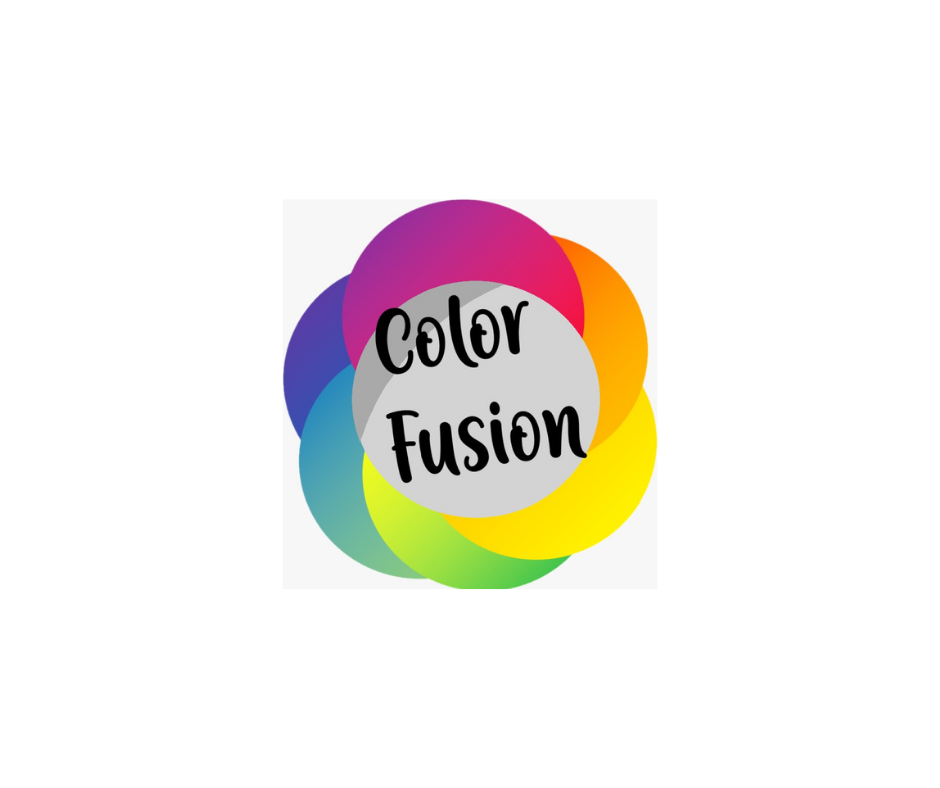 Das Bild zeigt das bunte Blumenförmige Logo von Color Fusion