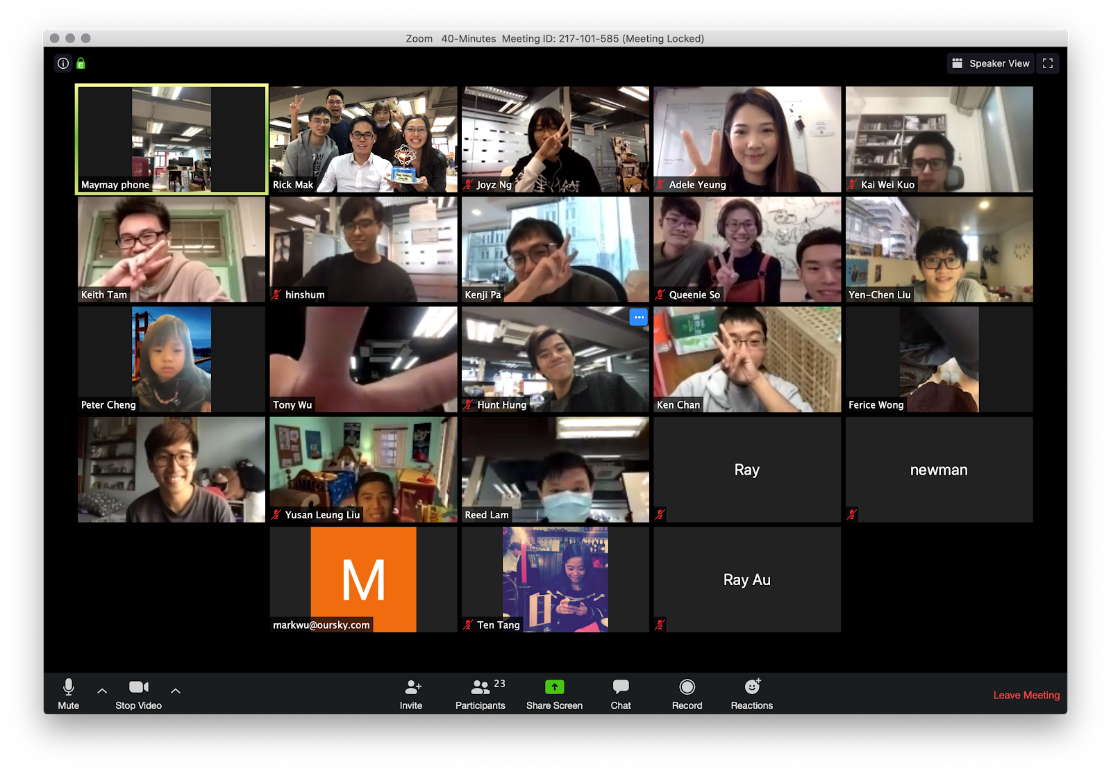 zoom call with authgear team