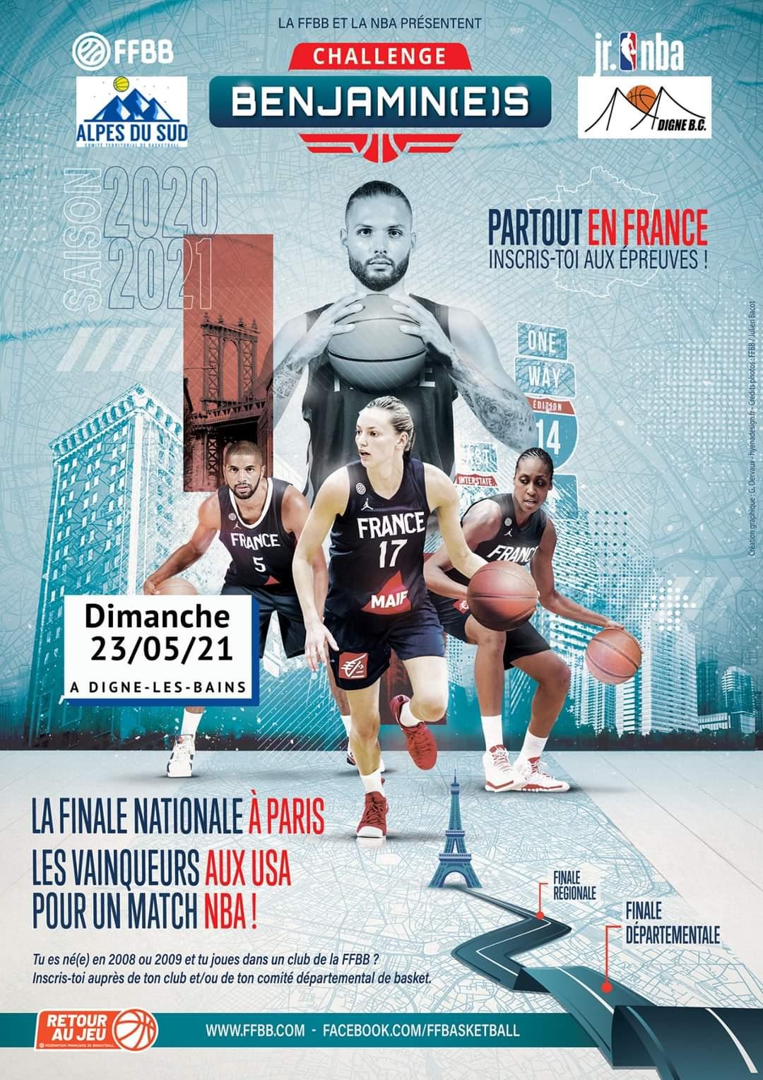 Challenge Benjamin(e)s 2021 : Finale départementale