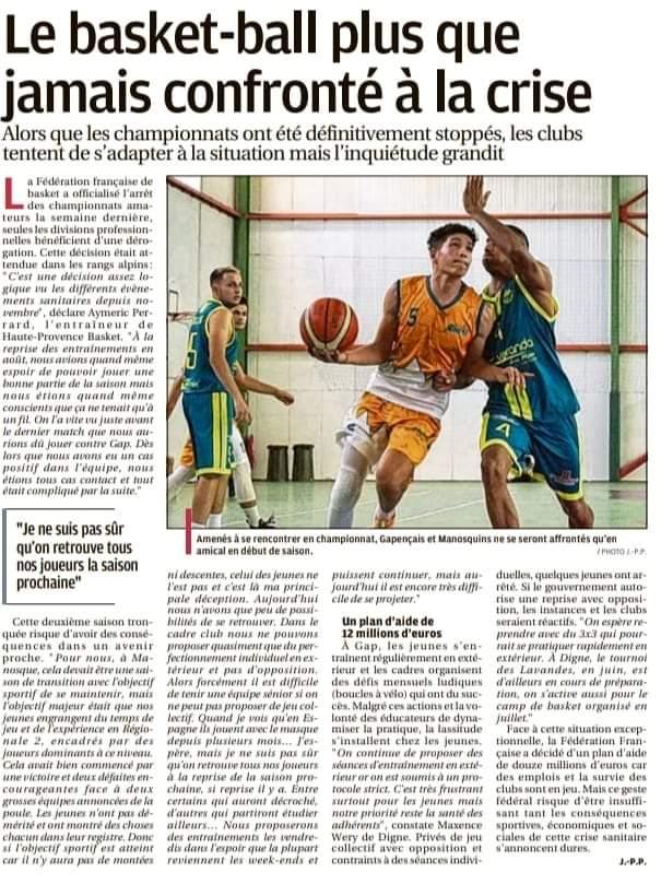 Le basket-ball plus que jamais confronté à la crise